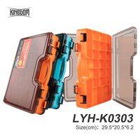 Caja de pesca del Reino 29.5 * 20.5 * 6.2cm 495g Multifuncional Multifuncional Lado de doble cara Accesorios de altura de alta calidad Tackles