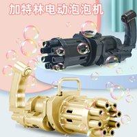 Aynı net ünlü ile gatling makinesi vibrato çocuk elektrikli baloncuk silah oyuncak