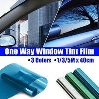 1/3 / 5mx40 cm Araba Ev Tek Yönlü Ayna Pencere Cam Bina Renklendirme Filmi Yan Güneş UV Koruma Sticker Perde Kazıyıcı Güneşlik