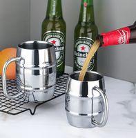 الفولاذ المقاوم للصدأ البيرة القدح القهوة كوب مزدوج العزل حليب الشاي بار اللوازم