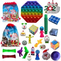Factory Outlet Christmas decoration 24 Pack Fidget Toy Countdown Calendar Blind Bag Advent Gift Bags Xmas Tree Ornament NCDE