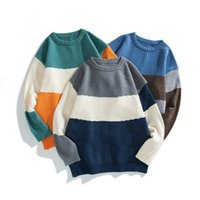 Men's Jackets 2021 Autumn And Winter Trend Casual Youth Loose Hong Kong Style Sweater Pullover Korean Round Neck