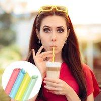 Bere cannucce 100pcs Grandi colori misti per la bolla di perle Latte Frullato del latte Partito Plastica 21 cm x 1cm Accessori per barra 2021