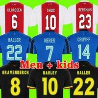 AJAX أمستردام لكرة القدم الفانيلة 2021 2022 كودوس أنتوني الأعمى البروسيات تاديك نيريس كرويف جيرسي 21 22 الرجال + أطفال كيت كرة القدم قميص الزي المنزل بعيدا الأزرق الثالث الأسود