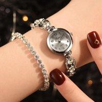 손목 시계 여성 시계 패션 시계 2022 숙녀 제네바 다이아몬드 간단한 강철 스트립 몬트 레 골드 손목 T5