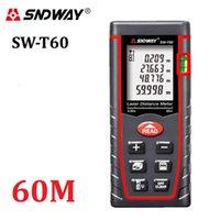 حقيقي sndway 60 متر الرقمية الليزر rangefinder rz60 197ft المسافة متر المدى مكتشف منطقة - حجم زاوية اختبار أداة T200603
