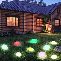 Güneş Işıkları Açık, Glow Arnavut kaldırımı Taş Şekli Bahçe Işık Su Geçirmez Renk Değiştirme Manzara Uzaktan Kumanda Çim Lambaları Ile
