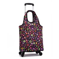 Suitcases Oxford Cloth Travel Suitcase,Cabin Rolling Luggage Bag,Handbag With Wheel ,Grocery Shopping Cart Detachable Trolley Bag