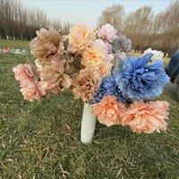 Eine Seide 5 Große Köpfe / Stück Pfingstrose Blume Zweig Langer Stamm Herbst Serie Peonia für Hochzeit Party-Mittelstücke Floral Dekoration Dekorative FL