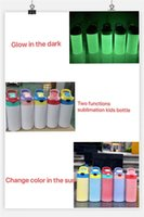 Two Functions 12oz UV Color Changing Tumbler Glow in the Dark Sublimation STRAIGHT Sippy Cups Kids Mugs Stainnless Steel Baby Bottle Feeding Nursing Bottle