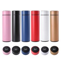 17oz Customize Smart Thermos Mug Water Bottles Temperature Display Vacuum Stainless Steel Waters Kettle Thermo Cup With LCD Touch Screen Gift Cups