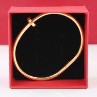 Brand Nail Bracelets Bangles Braccialetti di lusso acciaio inox accessorio gioielli gioielli regalo donne e maschio femme
