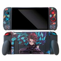 Comics Demon Slayer Storage Bag Cover for Switch Portable Games Console Full Protective Soft Anime Silicone Play Station Case Shockproof