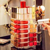 53lippene rotierende lippenstift aufbewahrungsbox 360 grad acryl rotiert ackerturm nagellack make-up organizer lip gloss case kosmetikanzeige
