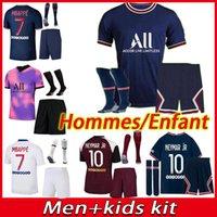 20 21 psg erwachsene Fußball Jerseys mbappe verotti 2020 2021 paris men football shirt PSG Kinder Kit Trikots Kit