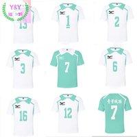 Erkek T-Shirt Kostüm T-shirt Aoba Johsai Voleybol Kulübü Kunimi Akira Iwaizumi Sportswear Haikyuu Tops !! Oikawa Tooru Cosplay Özel Kullanım