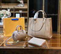 Vender bem moda mulher mulher sacos de três peças totes bolsa de couro genuíno couro clássico design super grande capacidade de alta qualidade presentes 04