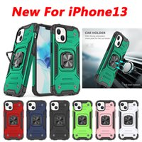 Armor magnetic vehicle Car holder phone cases For iPhone 13 12 11 PRO X XR XS max 6 7 8 Plus case shockproof and fall proof cover