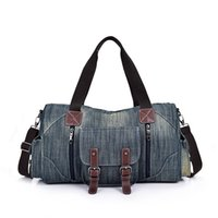 HBP Large Capacity Handbag Shopping Bags Hand Bag High Quality Denim Canvas Quality Patchwork Color Zipper Wide Shoulder StrapOG66