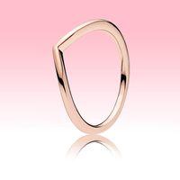 3 colores pulidos anillo de wishbone anillo amarillo oro rosa chapado en oro joyería para Pandora Real 925 Silver Mens Anillos con caja original