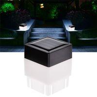 2x2 Solar LED Post Cap Lâmpada Quadrado Ao Ar Livre Pillar Powered Light para Ferro Ferro Fechando Frontal Quintais Portão Paisagismo Residencial