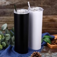 DHL 10 Pc 20oz Sublimation Blanks Straight Skinny Tumbler St...