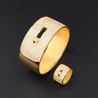 Retro creative snap love bracelet women's simple jewelry copper plated couple's ring set net red hot style