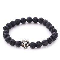 Bracelet de charme chaude Bouddha Bracelets Paracord Naturel Stone Lion Bracelet Hommes Pulseras Hombre Bracciali Uomo Mens Bracelets 94 U2