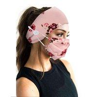 2021 fasce per la maschera del viso Fasce con bottoni Tie Tie Dye Fashion Designer Maschere Donne Sport Yoga Elastic Hair Band 2pcs / Set GWA4342