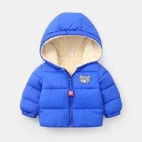 Hylkidhuose 2021 зима детские девочки мальчики пальто младенческие капюдра мягкая куртка мультфильм открытый теплый дети детские снежные верхняя одежда H1025