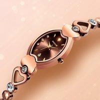 مصمم العلامة التجارية الفاخرة الساعات الكوارتز أزياء للماء السيدات سليم دلو حجر الراين التنجستن الصلب شكل هيكالي على شكل قلب حزام R0211