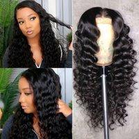 Alinybeauty Wholesale Loose Deep Wave 100% Brazilian Human Hair Lace Wig 4*4 Transparent Frontal Closure Lace Front Wig