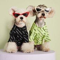 Letter Shirt Dog Apparel Leisure Cotton Denim shirts Jacket For Pets Outfits Women Men Pet Clothes