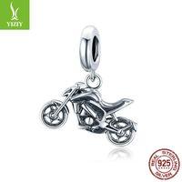 BamOer 925 Sterling Silver Motorycle Original Silver Jewelry Charm para accesorios de pulsera original de 3 mm DIY Charm Make SCC1712 2016 Q2