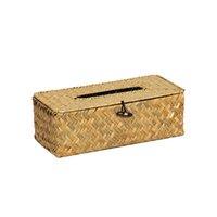흰 니트 바다 잔디 테이블 냅킨 홀더 자동차 티슈 상자 귀여운 냅킨 상자 티슈 홀더 냅킨 용지 용 용기 210326