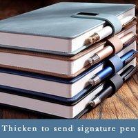 Блокноты A5 Школьная ноутбука Утолщенные блокноты работа густой бизнес офис канцтовары кожаный дневник Cuaderno Planner Caderno Sketchbook