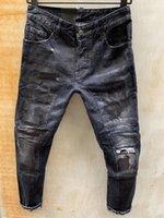 21SS DSQ Phantom Tortue Classic Mode Homme Jeans Hip Hop Rock Moto Hommes Design Casual Design déchiré Détoné Denim Biker Pantalon