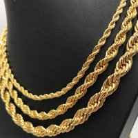 Chains Jewelrychains Necklaces & Pendants Jewelry24K Color Filled For Men And Women Necklace Bracelet Gold Rope Chain High Quality Drop Deli
