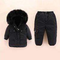 Coat 2021 Winter Warm Children Clothing Sets Baby Overcoat Girl Clothes Snowsuit Kids Ski Suit Set Boys Duck Down Jacket + Pants