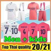 Thai Kalite 20 21 Sergio Ramos Tehlike Benzema Gerçek Madrid Futbol Forması 2020 2021 Çocuk Yetişkin Asensio Modrit Futbol Üst Gömlek Camisetas de Madrid Gerçek Formalar