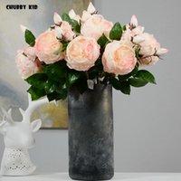 Декоративные цветы венки 12 шт. / Лот! Wholesale hi-q 3 головы искусственные английские розовые шелковые англия свадьба austin розы фальшивая роза