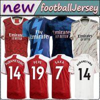 Fans Player version 424 Arsen soccer jerseys 20 21 22 gunners ODEGAARD THOMAS PEPE football shirt set SAKA TIERNEY HENRY WILLIAN SMITH ROWE 2021 2022 Men Kids K