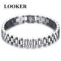 Men Male Vintage Fashion Bracelets Twisted Braiding Stainless Steel Chain Bracelet Wristbands Classic Jewelry Link,