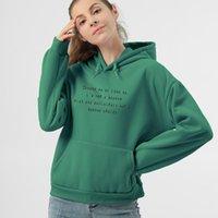 Women's Hoodies & Sweatshirts Oversized Women Thicker Letter Warm Sweatshirt Oversize Loose Casual Pullover Jumper Sweat Femme Womens Youth