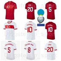 2020 Europe Tasse Türkei Fussball Trikots Turquia Nationalmannschaft 3 Demiral 4 Soyuncu 7 unter 6 Tufan 13 Meras Yokuslu Tekdemir Fußball Hemd Kits Euro Patch
