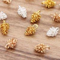 Charms 20 stks / partij 12 * 7mm legering Pinecone Hangers DIY Oorbellen Ketting Maken Sieraden Accessoires Voor Armbanden Zilveren Kleur