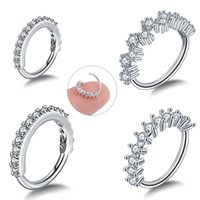 1PC Round Zircon Bendable Gem Ring Bendable Seamless Nose Ring Steel Crystal Ear Tragus Helix Cartilage Earring Piercing Jewelry