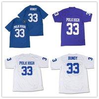 Hommes Al Bundy # 33 Polk High Football Football Jersey Full Cousu Bleu Bleu Purple Taille S-4XL