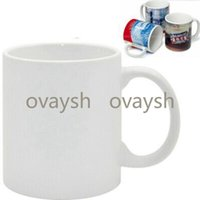 Sublimation Blanks Mug Personality Thermal Transfer Ceramic Mug 11oz White Water Cup Party Gifts Drinkware