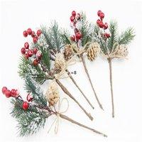 شجرة عيد الميلاد الديكور محاكاة الأرز التوت باقة ديكور المنزل عيد الميلاد الحلي أورماليا باقات diy جارلاند الصنوبر مخروط HHE9083